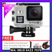 (Action Camera) BRICA B-PRO 5 Alpha Edition IIs (AE2s) Combo 3 Way Deluxe - Silver