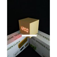 Jam Meja Digital Led Weker 008 cream red