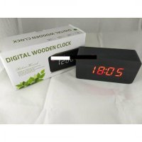 Jam Meja Digital Led Weker 012 black red
