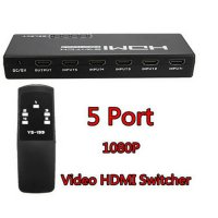 [globalbuy] 1PCS 2015 High Quality Durable In Use 5 Port HDMI 1080P Video Switch Splitter /3359324