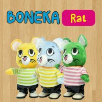 Boneka Rat (B) - Pink Strip, Yellow Strip, Green Strip