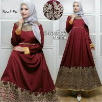 Baju gamis pesta India Modest