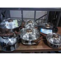Airlux SC-8012 - 12 PCS Stainless Steel Cookware