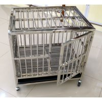 Kandang Anjing / Stainless Steel Dog Cage Medium (94 x 77 X 103)
