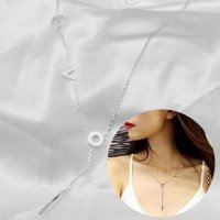 [KALUNG] 02E33Br Titanium Plating 18K Plated Necklace Silver