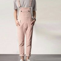Overall jeans simple skinny men baju kodok cowok panjang long jumper