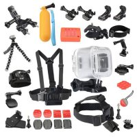 [globalbuy] Transparent Waterproof Case 19-in-1 Accessories Kit for Polaroid Cube and Cube/3255682