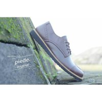 simple culture safety brown piede sepatu kulit handmade leather coklat