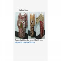 Daster batik jumbo pekalongan big mom long dress