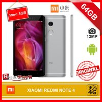 XIAOMI REDMI NOTE 4 Gray / Grey 64GB RAM 3GB 13Mp Original 100%