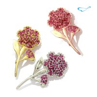 Synthetic ruby ​​carnation brooch (77 settings) / BRF01 [Family Month Gifts] [Y]