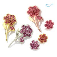Synthetic ruby ​​carnations set (M + F / 173 setting) / BRS01 [Family Month Gifts] [Y]