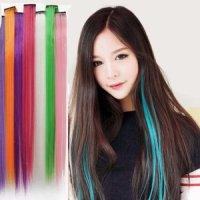 hair 1 clip ( extension lurus warna warni murah dryer klip highlight