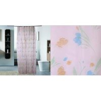 SUPER SALE ] Shower Curtain / Tirai Kamar Mandi Bunga Hjau Orange