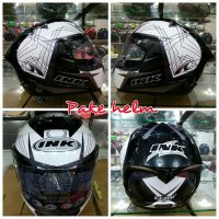 HELM INK CL MAX FULL FACE #3 WHITE SILVER