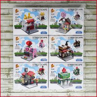 [Gold Product] Set LEGO Panlos Brick - Mini City 657001-657006 Street Shop Rumah Toko