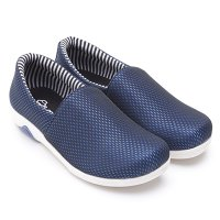 Dr.Kevin Canvas Flat Shoes Ladies 43155 Blue