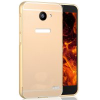Casing Aluminium Bumper With Sliding Casing For Infinix Note 2 X600 - Gold