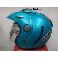 HELM INK T1 SOLID ICE BLUE T 1 HALF FACE