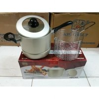 Murah! Stimfrai / Deep Fryer / Steamer & Fryer Maspion 18Cm - Dual Use |QQI:4394