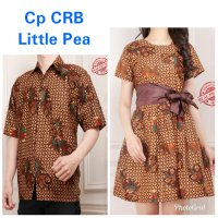 Cj collection Couple batik dress maxi pendek wanita mini dress dan atasan kemeja pria shi Airena