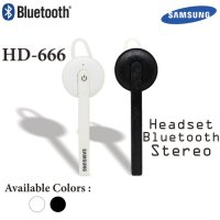 Headset Handsfree Bluetooth Samsung HD-666 High Quality Stereo