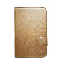 FS Marvel Flip Cover Samsung Tab 2 P3100 P6200 7 Inch - Gold