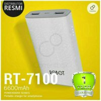 Power Bank Robot RT7100 6600mAh 2 Port