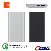 Xiaomi PowerBank Quick Charge 2.0 10000 mAh Power Bank - PLM02ZM-SL