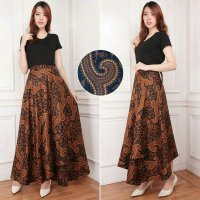 Cj collection Rok lilit batik maxi payung panjang wanita jumbo long skirt Lisa