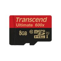Transcend 8 GB 90 mb/s Micro SDHC Card Class 10 UHS-1 + SD Adapter Car