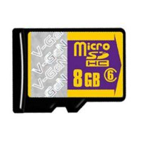 V-Gen 8 GB 25 mb/s Micro SDHC Card + SD Adapter Card