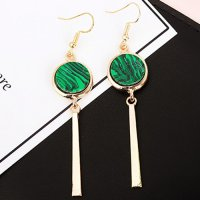 anting panjang fashion korea dangling earrings hijau emerald jan132
