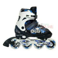 Sepatu Roda COUGAR Power King Blue/Black Recreational Inline Skate