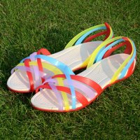 Women Ladies Jelly Beach Summer Multicolor Sandals Shoes Casual Scandals|ZD3673601