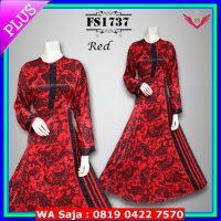 (Abaya) Baju Pesta Emboss India FS1737