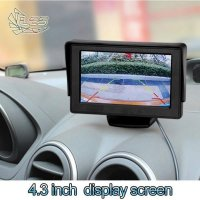 Tv Mobil Car Monitor 4.3' inch TFT LCD Color Rearview Monitor for DVD, GPS, Cam