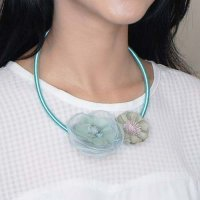 KALUNG 028FE3r Necklace Suede Clothing Accessories Green-Blue