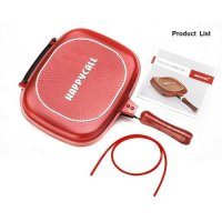 HAPPY CALL 32 cm Double Pan Grill Panci Anti Lengket GD0010