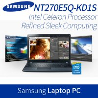 [SAMSUNG] 15.6inch Notebook laptop pc NT270E5Q-KD1S / celeron 321tu ram 4gb / hdd 500gb / intel hd g