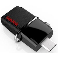 Sandisk Ultra Dual OTG USB Flash Drive USB 3.0 32GB - SDDD2-032G - Black