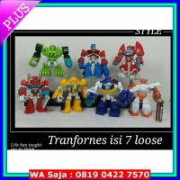 (Figure Set) mainan anak action figure tranformer 7pcs robot transformers optimus
