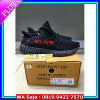 #Sneakers SEPATU ADIDAS YEEZY BRED BLACK RED BOOST 350 V2 BRED (PREMIUM QUALITY)