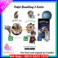 #Kartu Paket Kartu Edukasi animasi 4D by Octagon (animal, octaland, Space)