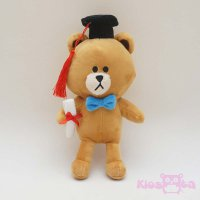 boneka wisuda brown line small new edition