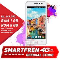 Andromax A-Smartphone 4G RAM 1GB-White-Smartfren Official Store-free Kuota Internet 30GB*