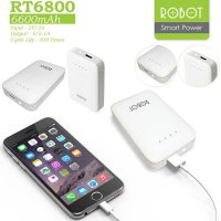 Robot Power Bank RT6800 6600 mAh 100% Original - Putih