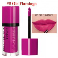 BOURJOIS ROUGE EDITION VELVET 05 OLE FLAMINGO!
