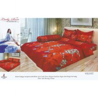 Sprei Lady Rose Disperse Uk.180 x 200 Motif Velvet
