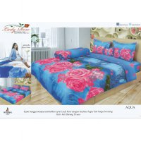 Sprei Lady Rose Disperse Uk.120 X 200 Motif Aqua